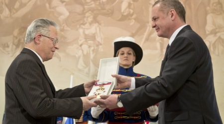 The Slovak President appreciated the worker of UPJŠ MF prof. Jozef Kafka