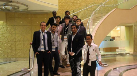The only Slovak student at the international summit in Doha, Qatar