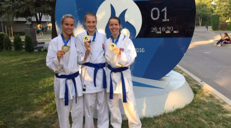 Our students have won the 1st place in karate at the European University Games