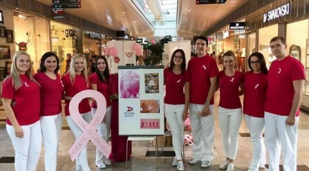 "The event ""Pink October"" attracted over four hundred women"