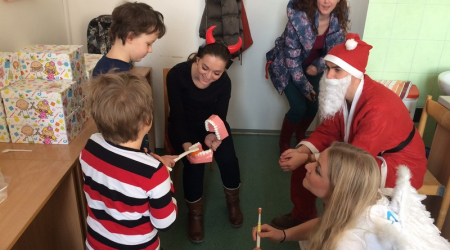 Our students prepared St. Nicholas surprise for children at departments of stomatology
