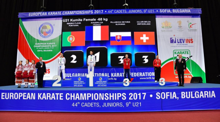 Our student won a bronze medal in karate at the European Championships in Sofia