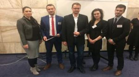 The team from Košice as an absolute winner of the ČSESP European Union Law Moot Court 2017