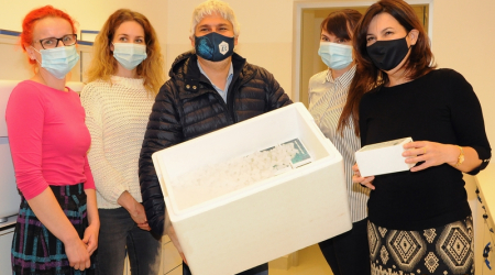 The Faculty of Medicine, UPJŠ was gifted of almost ten thousand PCR tests